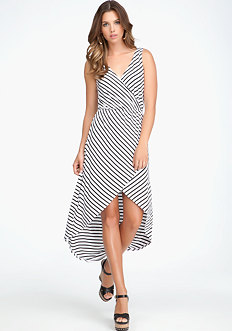 bebe Crossover High Low Dress