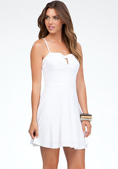 bebe Fit & Flare Bustier Dress