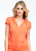 Terry Short Sleeve Hoodie - ONLINE EXCLUSIVE at bebe