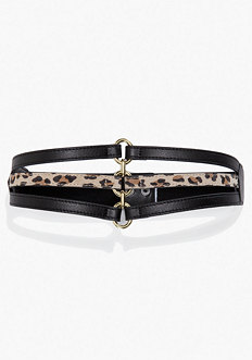 bebe Leather Strap Stretch Belt