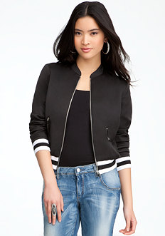 bebe Lightweight Bomber Jacket