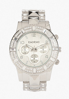 bebe Pyramid Band Watch