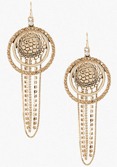 Snake Disc & Chain Earring at bebe