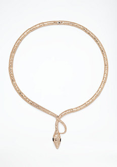 bebe Short Snake Necklace