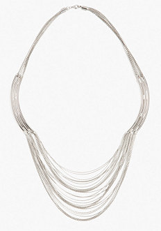 bebe Multi Bar & Drop Chain Necklace