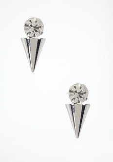 bebe Crystal & Spike Stud Earrings