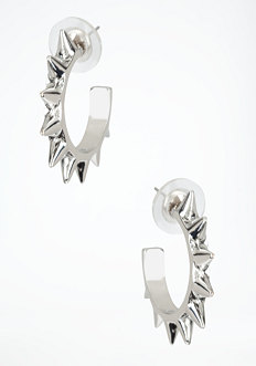 bebe Small Spike Hoop Earring
