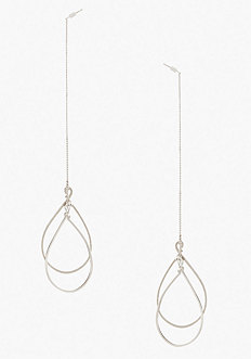 bebe Pull Through Teardrop Earrings