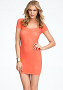bebe Raglan Sleeve Diamond Stitch Dress - ONLINE EXCLUSIVE