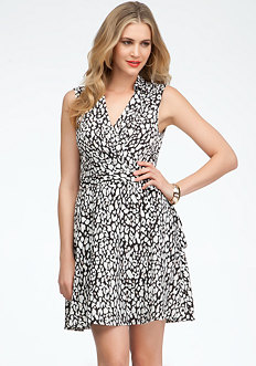 bebe Leopard Print Wrap Dress