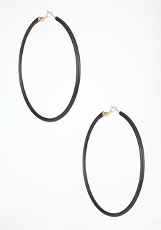 bebe Oversized Coated Hoop Earring