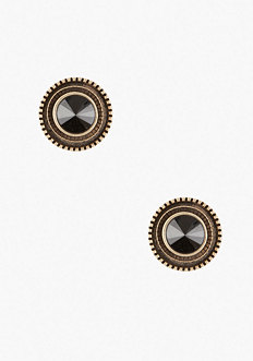 bebe Oversized Faceted Stone Stud Earrings