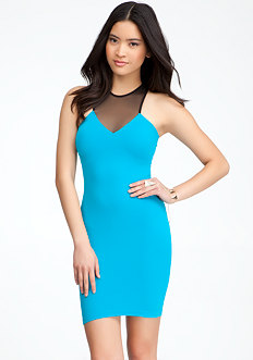 Diamond Mesh Bodycon Dress at bebe