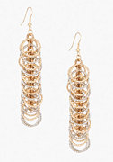 bebe Mini Circle Linear Earring