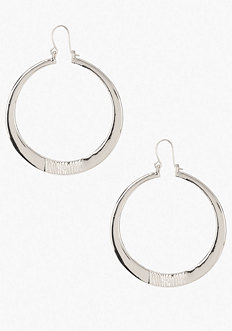 bebe Looped Closure Hoop Earrings