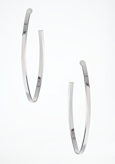 bebe Oval Hoop Earrings