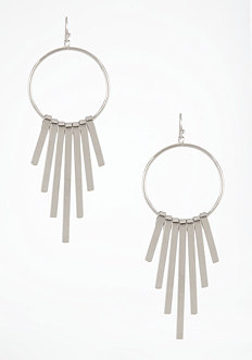 bebe Hoop & Bar Earrings