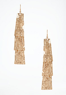 bebe Textured & Tiered Linear Earrings