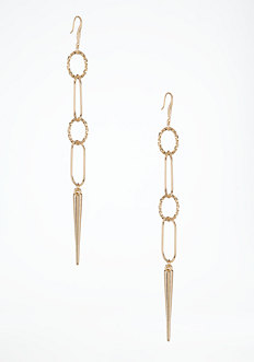 bebe Chainlink & Spike Earring