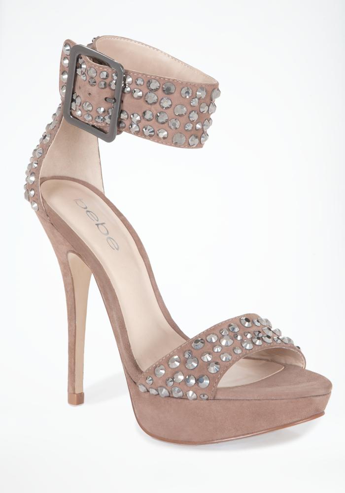 Tonya Embellished Suede Sandal