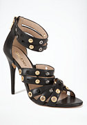 bebe Regina Studded Leather Sandal