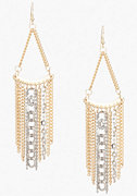 bebe Triangular Multi Chain Statement Earrings