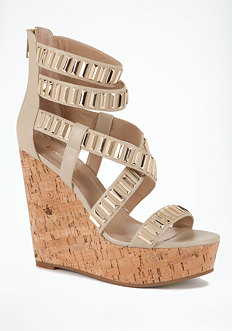 bebe Carol Metal Link Wedge