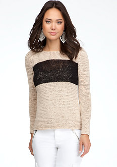 Colorblock High-Low Sweater at bebe