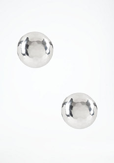 bebe Hammered Half Dome Stud Earrings