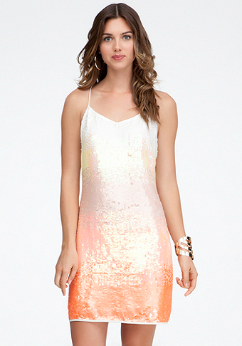 bebe Ombre Sequin Sheath Dress - ONLINE EXCLUSIVE