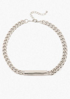 bebe Chain Link ID Necklace