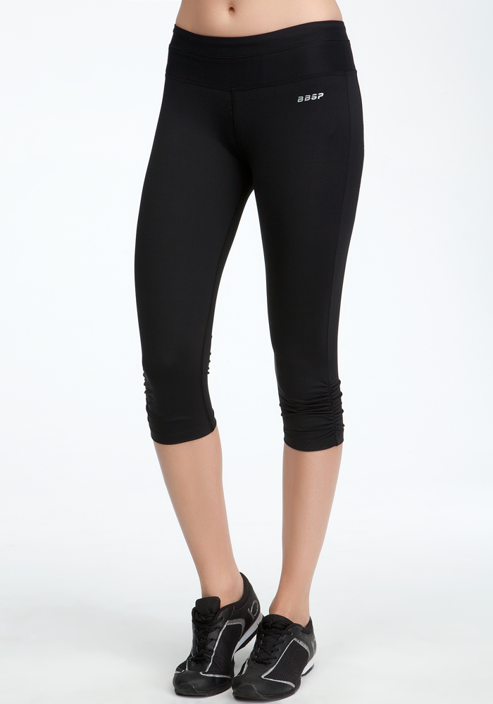 Run Crop Pant - Bebe Sport - Blk - L