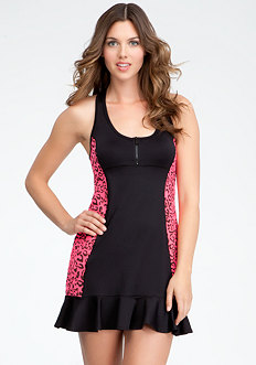 bebe Leopard Print Tennis Dress - BEBE SPORT ONLINE EXCLUSIVE