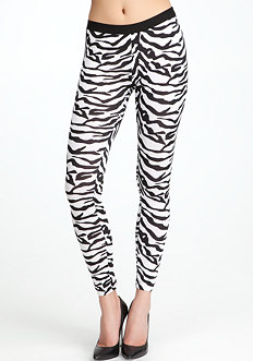 Zebra Print Leggings at bebe