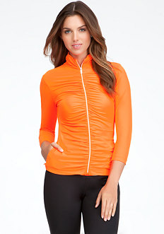 bebe Ruched Funnel Jacket - BEBE SPORT