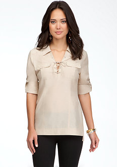 bebe Lace Up Tie Tunic