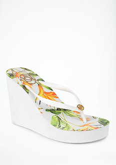 bebe Birds Of Paradise High Flip Flop