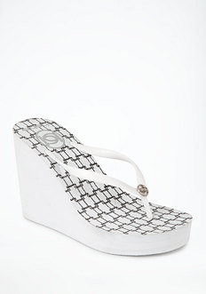 bebe Distressed Links High Flip Flop
