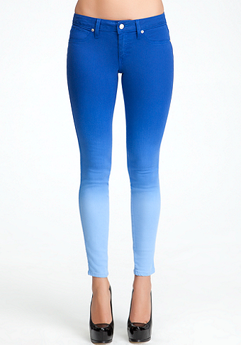 Ombre Spray Icon Skinny Jeans at bebe
