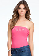 Logo Side Ruching Tube Top - ONLINE EXCLUSIVE at bebe