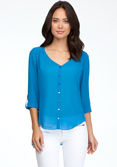 bebe High Low Shirt Blouse