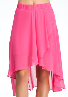 bebe High Low Chiffon Skirt