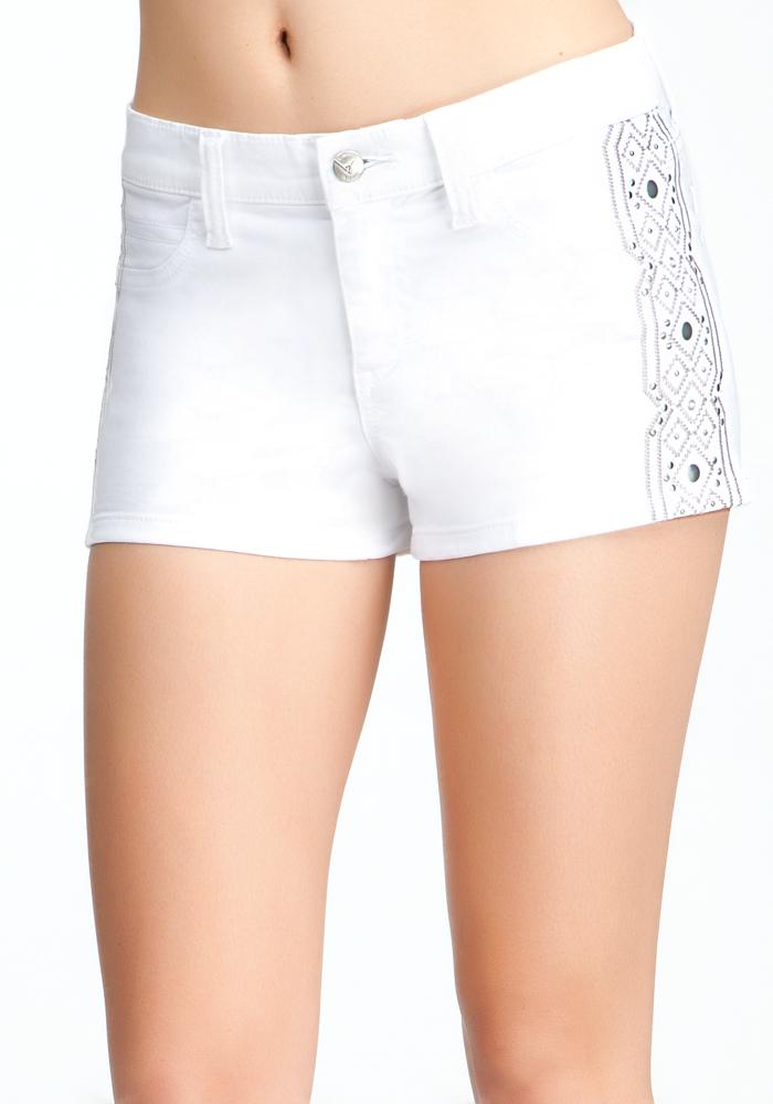 Boho Tux Denim Shorts