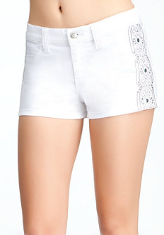 bebe Boho Tux Denim Shorts