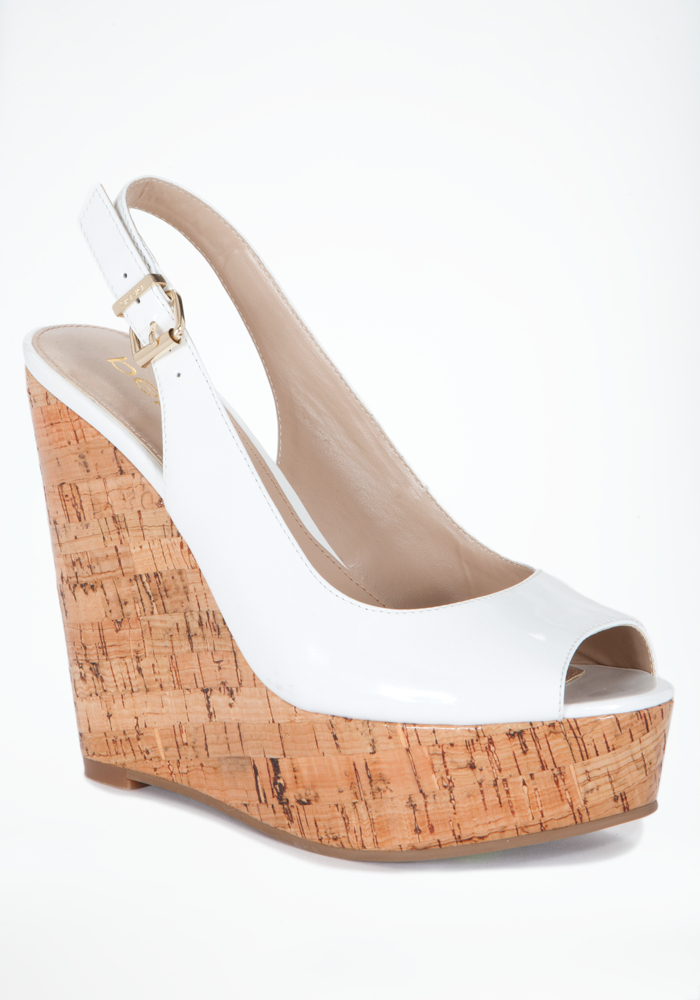 Mallory Patent Leather Cork Wedge