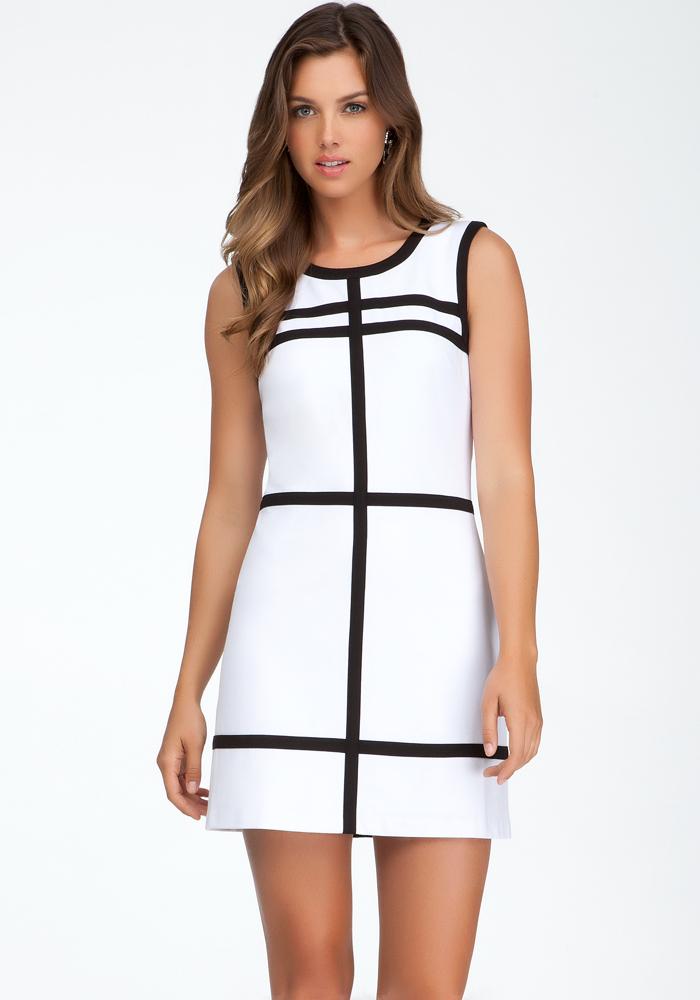 Contrast Press Fold Detail Dress