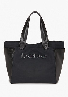 bebe Coated Canvas Tote Bag