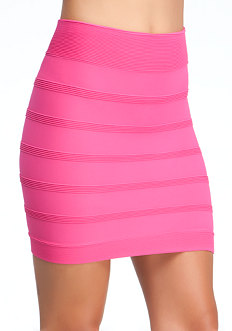 bebe Ottoman High-Waisted Skirt