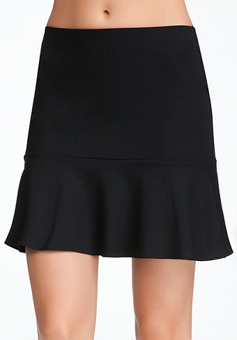 Power Knit Flounce Skirt at bebe