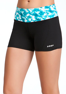 bebe Colorblock Print Shorts - BEBE SPORT ONLINE EXCLUSIVE